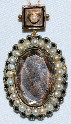 #513 8k Hair Mourning Brooch c.1859