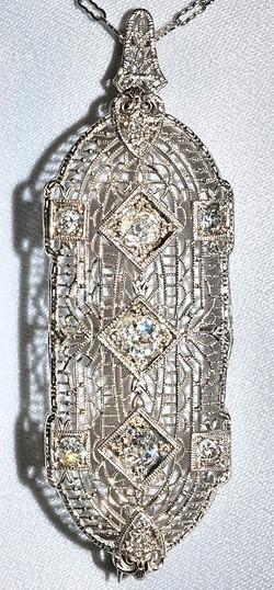 #862 - Art Deco Diamond Brooch WEB