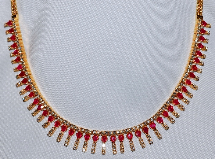 #333 Ruby & Diamond Necklace