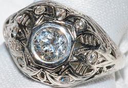 #866 - Art Deco Diamond Ring WEB