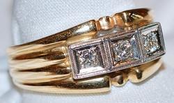 #719 14k Deco .27ct RBC Diamond Ring