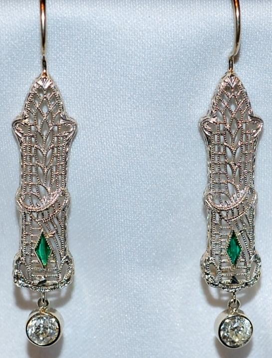 #422 14k Diamond .76ct Earrings