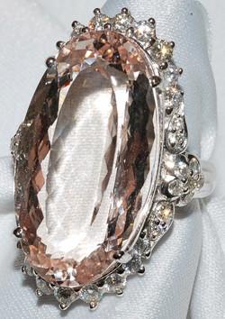 #515 - Morganite & Diamond Ring WEB