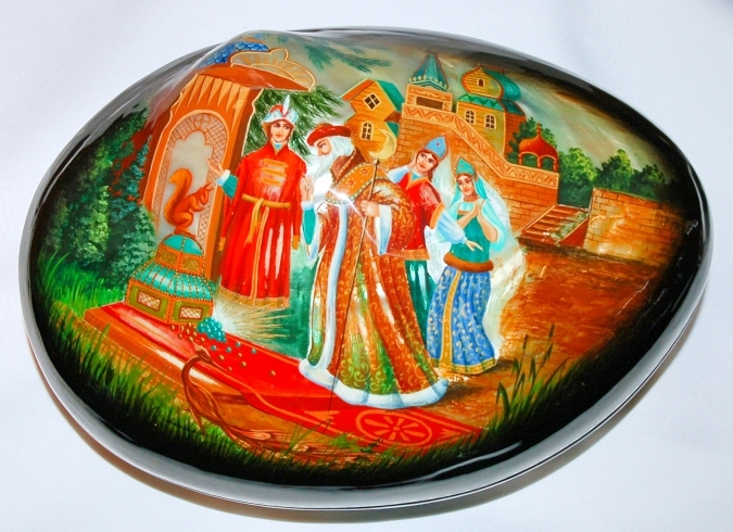 Hand Painted Abalone Box, Russia