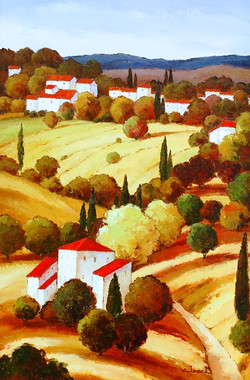 Tuscan Scene by Jacob (Oil)