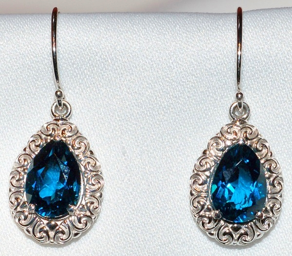 14k London Blue Topaz Earrings
