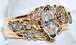 #412 14k Brilliant Cut - 1.44ct Ring
