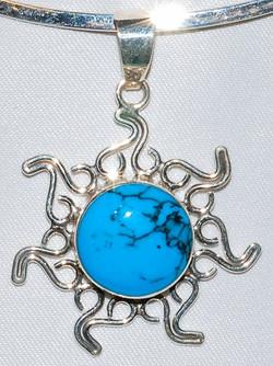Taxco Turquoise Pendant WEB