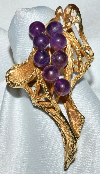 #733 - 18k Gold & Amethyst Ring WEB
