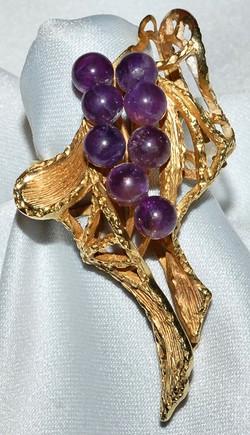 #733 - 18k Gold & Amethyst Ring WEB