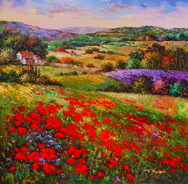 """Hill Top Colors"" Oil by J. Morgan"