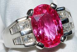 #1124 - Pink Sapphire & Diamond Ring WEB