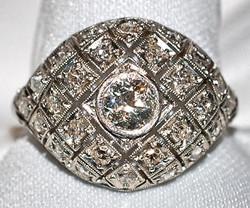 #478 Platinum OEC-.60cts Ring