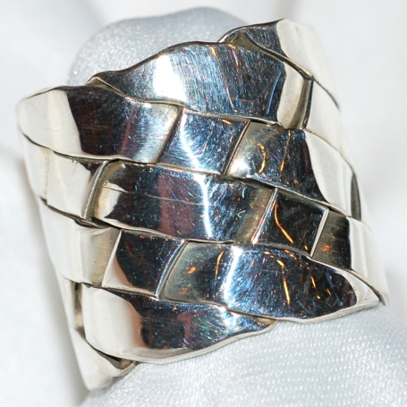 Sterling Woven Ring