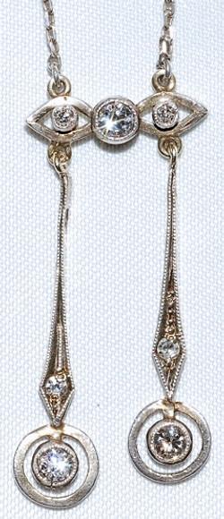 #309 Silver & OEC Diamond Negligee