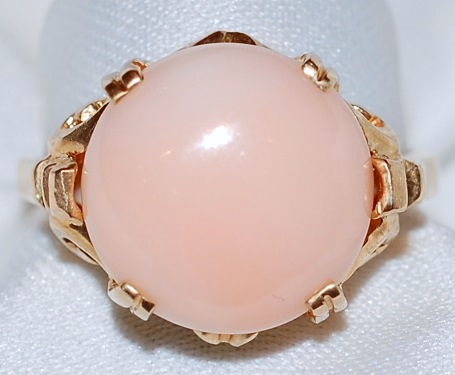 #023 14k Angel Skin Coral Ring