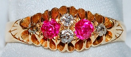 #982 - 18k Ruby & Diamond Ring