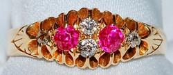 #982 - 18k Ruby & Diamond Ring