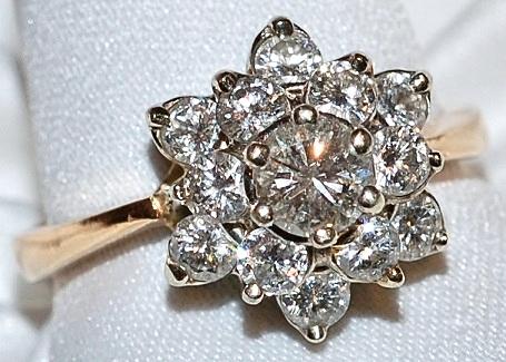 #807 14k Diamond .50ct Ring