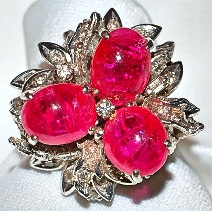 #193 14k Ruby & Diamond Ring
