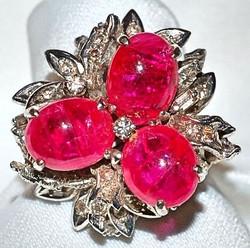 #193 14k Ruby & Diamond Ring