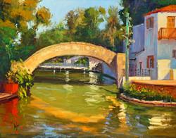 """""""Rosita's Bridge"""" Oil by Rusty Jones"""