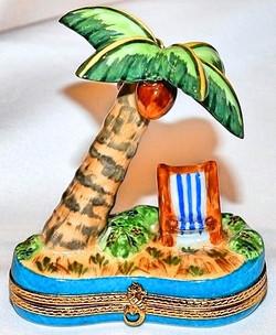 Beach Scene Limoges Box