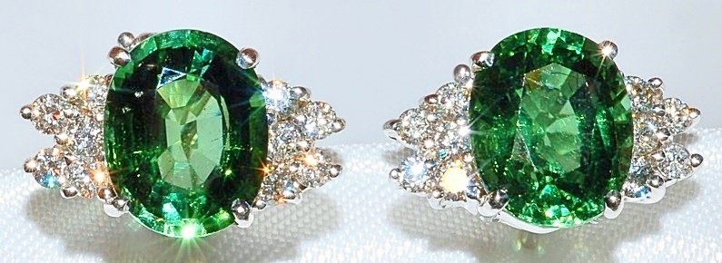 #134 - Tourmaline & Diamond Earrings WEB