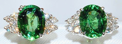 #134 - Tourmaline & Diamond Earrings WEB