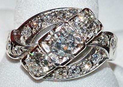 #643 14k Various Diamond Ring