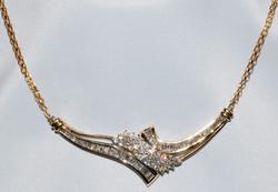 #242 - 10k YG & Diamond Necklace WEB