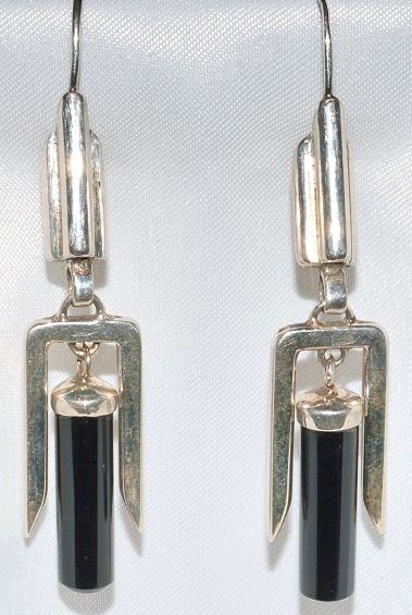 Sterling Onyx Earrings WEB