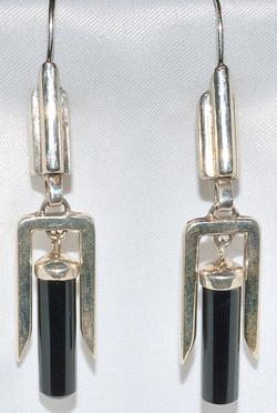 Sterling Onyx Earrings WEB