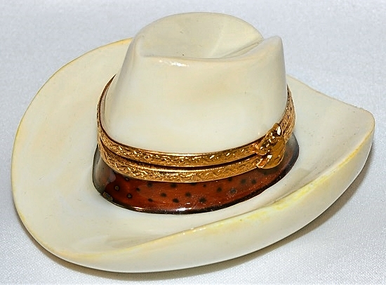 Cowboy Hat Limoges Box