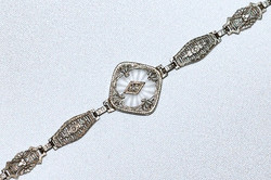 #255 14k Rock Crystal Bracelet