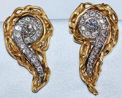#824 14k 1.25ct Diamond Earrings