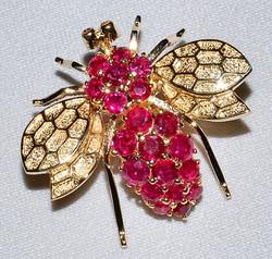 #310 - Ruby Bee Pin