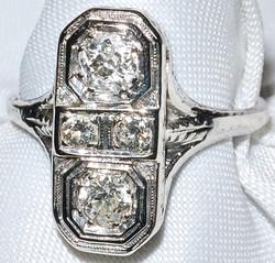 #105 Art Deco 18k Diamond Ring WEB