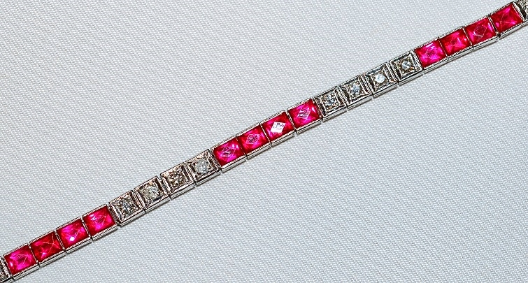 #434 - Ruby & Diamond Bracelet WEB1