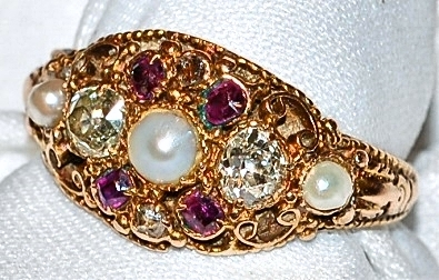 #207 15k Ruby, Pearl & OMC - .22cts
