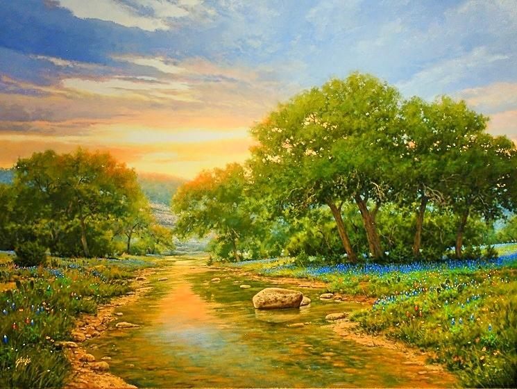 Spring Sunset On Onion Creek WEB