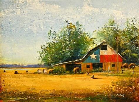 """Summer Morning"" Original Oil by David Ivey"