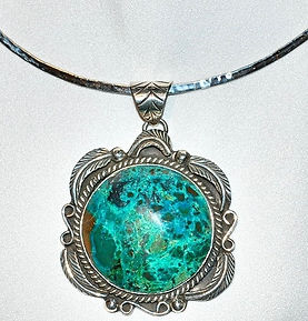 Mexican Silver & Tuquoise Necklace   WEB