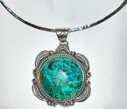 Mexican Silver & Turquoise Necklace