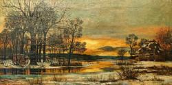 Daybreak Over Icy Pond WEB