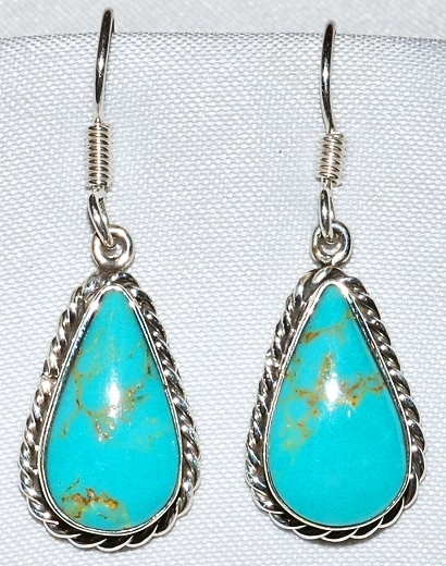 Taxco Turquoise & Sterling Earrings WEB.