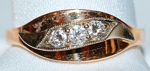 #522 14k Retro Diamond Ring WEB