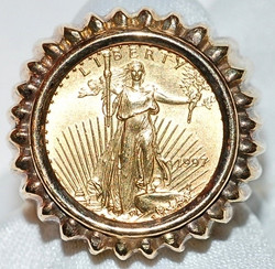 #509 American Eagle Coin 14k Ring