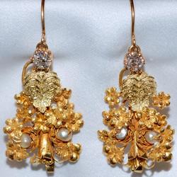 #452 Antique Diamond & Pearl