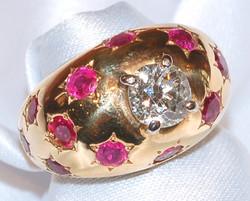 #563 Ruby 3.36ct Diamond 1.46ct Ring